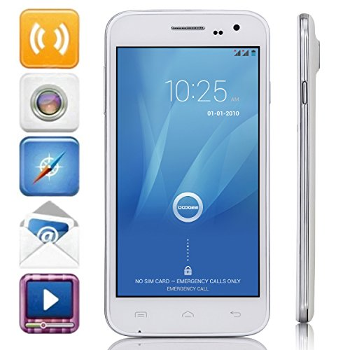 """DOOGEE VOYAGER2 DG310 MTK6582 Quad-Core Android 4.4 Phone w/ 5.0"""" IPS, 8GB ROM, GPS, OTA (PRESALE - will ship at 10th,Aug) (Pearl White)"""
