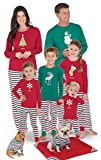 PajamaGram Family Christmas Pajamas Soft - Personalized, Red/Green, Toddler, 3T