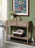 Convenience Concepts 6050419DFTWF 2-Drawer Hall Table, Driftwood
