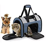 Pet Posse Pet Travel Carrier Bag- Airline Approved- Soft Double Sided- for Small to Medium Sized Cats & Dogs