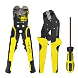 Wire Stripper and Crimping Tool Meterk 0.14-6mm² Adjustable Crimping Range With Carbon Steel + Alloy (Wire Crimper 0.14-6mm²)