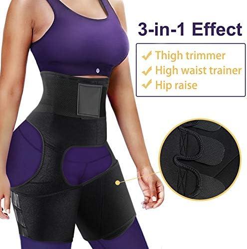 RACELO 3 in 1 Sauna Waist Trainer Butt Lifter Thigh Trimmer Sweat Body Shaper Exercise for Women Workout Weight Loss 2