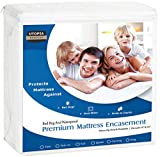 Utopia Bedding Premium Zippered Waterproof Mattress Encasement - Zipper Opening Mattress Protector (Twin)