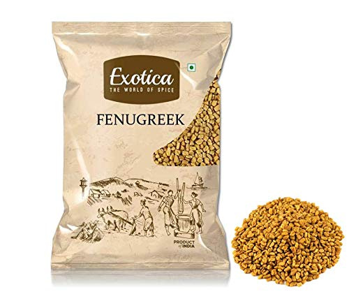 51926n+sWaL - Exotica Fresh / Natural Dried Fenugreek Seeds | Whole Methi Dana Seeds | Indian Spices & Masala (400 g)