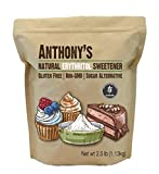 Anthony's Erythritol Granules (2.5lbs) Non-GMO, Natural Sweetener, Keto & Paleo Friendly