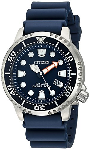 51937wFBTvL Round watch featuring unidirectional bezel and blue dial with date window at 4 o'clock and luminous hands/hour markers Eco-Drive technology is fueled by light and never needs a battery 42 mm stainless steel case with mineral dial window