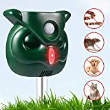 Dog Cat Repellent, Ultrasonic Pest Repellent with Motion Sensor and Flashing Lights Outdoor Solar Powered Waterproof Farm Garden Yard Repellent, Cats, Dogs, Foxes, Birds, Skunks, Rod