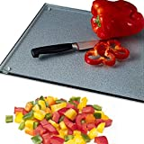 Clear Cutting Board - Virtually Unbreakable Glass 11x15 Scratch, Heat, & Shatter Resistant, Hygienic, Protects Against Bacteria, Stains & Odors Wood Can Retain. Sturdy Anti-slip Pads Protect Bar or Table From Hot Cookware. Great Placemat or Trivet