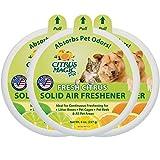 Citrus Magic Pet Odor Absorbing Solid Air Freshener Fresh Citrus, Pack of 3, 8-Ounces Each