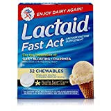 Lactaid Fast Act Lactose Intolerance Chewables with Lactase Enzymes, Vanilla Twist, 32 Pks of 1-ct.