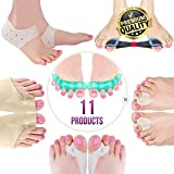 Orthopedic Bunion Corrector & Bunion Relief Elastic Sleeve Protectors, Gel Separators Spacer Spreader, Hammer Turf Big Toe Brace Straightener Splint, Ball Stretcher Heel Cushion Inserts for Women M-L