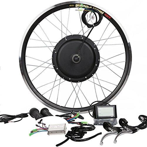 48V1000W Hub Motor Electric Bike Conversion Kit + LCD+ Disc Brake Theebikemotor