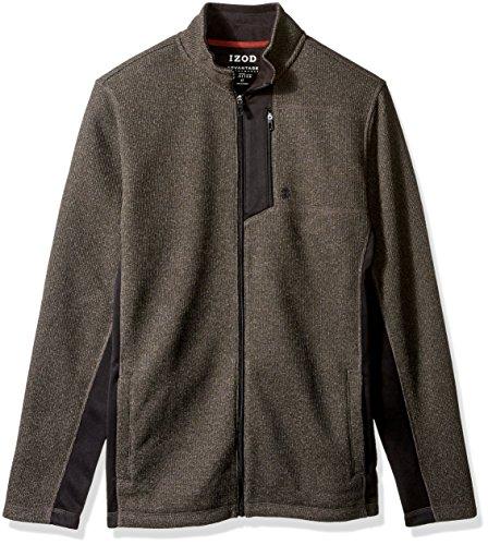 IZOD Men's Big and Tall Advantage Performance Full Zip Fleece Jacket, b.Heather, 4X-Large
