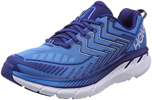 HOKA ONE ONE Men's Clifton 4 Running Shoe Diva Blue/True Blue Size 11 M US