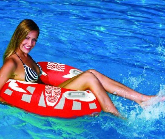 Rave Sports Aloha Tube Float Red White Grey Amazon Co Uk Sports Outdoors