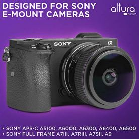 Sony-E-Mount-Lens-65mm-f20-Wide-Angle-Circular-Fisheye-for-Sony-Mirrorless-Camera-A6600-A6100-A6400-A6500-A6300-A5100-A6000-A5000-NEX-by-Altura-Photo-with-Protective-Hard-Case