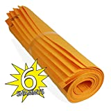 Absorbent Super Shammy. Car Sham and Automotive Detailing Cleaning Towels. German Chamois Cloths for Drying. Absorbent Synthetic Shammy Kitchen Cleaning Rags. Multiple Colors. (6, Orange)