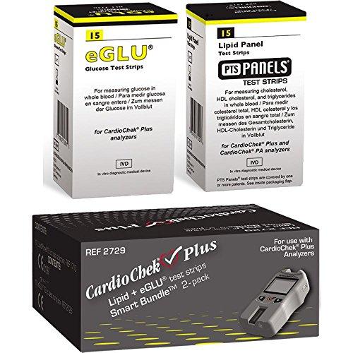 CardioChek Plus Smart Bundle 2729 (Lipid + eGLU test strips)