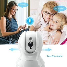 Wireless Security Camera,KAMTRON HD WiFi Security Surveillance IP Camera  Home Monitor with Motion Detection Two-Way Audio Night Vision - Cloud