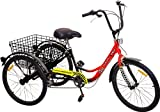 Komodo Cycling 24', 6-speed Adult Tricycle #7002 - Pacer I (85% Preassembled + 1 Year Warranty)