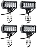 Cutequeen 4 X 36w 3600 Lumens Cree LED Spot Light for Off-road Rv Atv SUV Boat 4x4 Jeep Lamp Tractor Marine Off-road Lighting (pack of 4)
