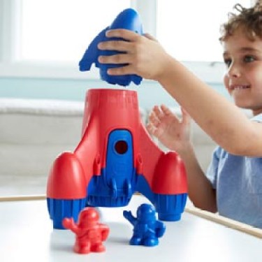 Green Toys Rocket - Blue Top
