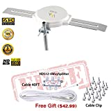 LAVA HD8008 360 Degree Omnidirectional HD TV 4K Omnidirectional TV Antenna OmniPro HD8008 + FiveStar Antenna Installation Kit