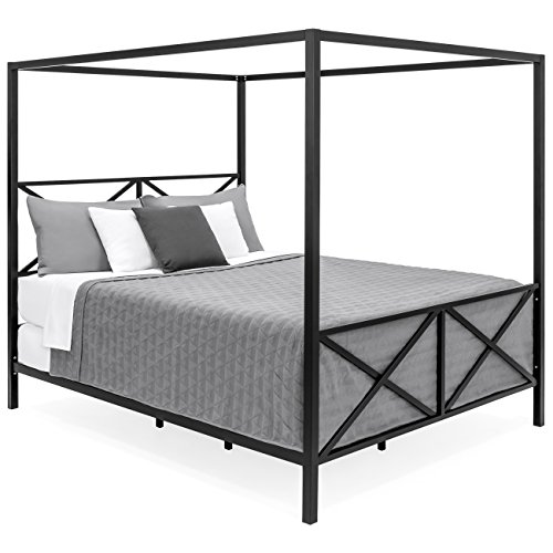 Best Choice Products 4 Post Queen Size, Modern Canopy Queen Metal Bed Instructions