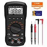 Multimeter,TACKLIFE DM03 Auto Ranging Multi Tester, Measures AC / DC Voltage and Current, Resistance, Continuity, Frequency, Diode Electronic Tester Digital Meter, Digital Multimeter with Backlit LCD Display, Overload Protection