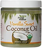 Primal Essence Organic Coconut Oil, Vanilla Sweet, 8 Ounce