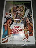 GIRLS SCHOOL SCREAMERS / ORIGINAL U.S. ONE-SHEET MOVIE POSTER ( TROMA FILM )