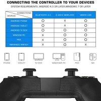 GameSir T1s Kablosuz Bluetooth Joystick Oyun Kolu / Kontrolcüsü Android / PC / PS3 / Smart TV ile Uyumlu 15