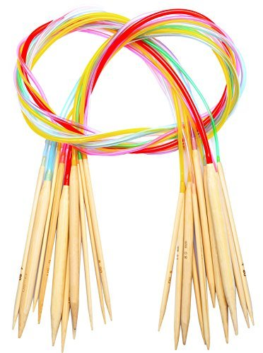Knitting Needles Set Circular Knitting Needles Bamboo 40 Inch Size 11 10 9 8 7 6 5 4 3 13 15