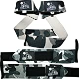 Nordic Lifting Lifting Wrist Wraps Bundle, (2 Pairs) - Camo Grey