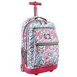 J World New York Sundance Rolling Backpack, Blue Raspberry, One Size