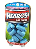 HEAROS Xtreme Protection Noise Cancelling Disposable Foam Earplugs NRR 32 Hearing Protection, 14 Pairs