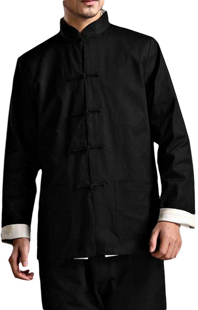 Bruce Lee Kung Fu Jacket Both Sides Wear Tops Martial Arts Long Jersey