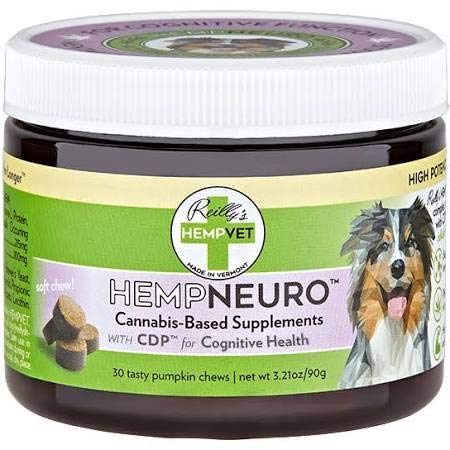 Reillys Hempvet 208002 Hemp Neuro Supplement for Dog - 30 Count