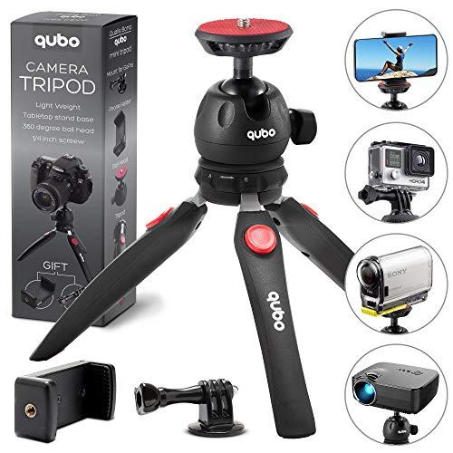 qubo Phone Tripod Camera Stand - New Premium Mini Tripod - Cell Phone...