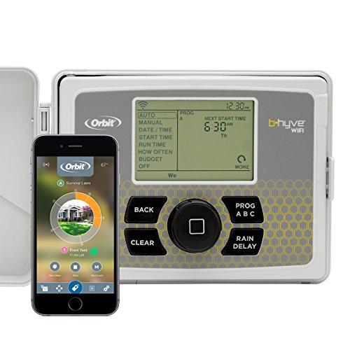 Orbit 57950 B-hyve Smart Indoor/Outdoor 12-Station WiFi Sprinkler System Controller, Compatible with Alexa