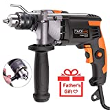 TACKLIFE Electric Hammer Drill and Impact Drill,Upgraded 7.1Amp/3000Rpm 1/2-Inch(13mm) Corded Drill with Aluminium Alloy Cover, Metal Rotating Handle, Variable Speed Trigger, Ideal Tool for DIY-PID03A