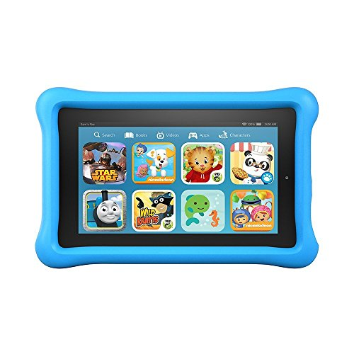"""Fire Kids Edition Tablet, 7"""" Display, Wi Fi, 16 GB, Blue Kid Proof Case  Image of 519fu1sKs%2BL"""