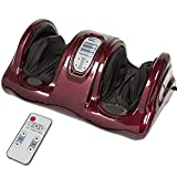Best Choice Products Shiatsu Foot Massager, Therapeutic Kneading and Rolling w/ Remote, 3 Modes - Burgundy