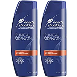Head and Shoulders Clinical Strength Dandruff and Seborrheic Dermatitis Shampoo, 13.5 fl oz Twin Pack (Packaging May Vary)