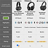 Skullcandy Crusher Bluetooth Wireless Over-Ear Headphone with Microphone, Noise Isolating Memory Foam, Adjustable and Immersive Stereo Haptic Bass, Rapid Charge 40-Hour Battery Life, Black