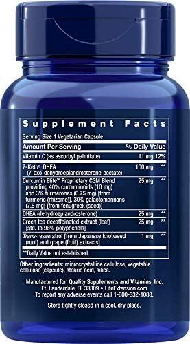 Life Extension Dhea Complete (7-Keto Dhea 100 mg and Dhea 25 mg), 60 Vegetarian Capsules 4