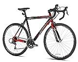 Giordano 42742 Libero 1.6 Road Bike, Black/Red, 56cm/Medium