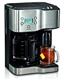Hamilton Beach 49982 Programmable Coffee Maker & Hot Water Dispenser, 2-Way, Black and Stainless