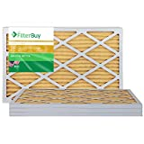 FilterBuy 17x22x1 MERV 11 Pleated AC Furnace Air Filter, (Pack of 4 Filters), 17x22x1 - Gold