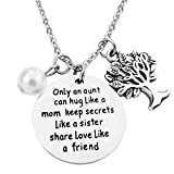 ALoveSoul Only an Aunt Can Hug Like A Mom Keep Secrets Like A Sister Share Love Like A Friend Necklace